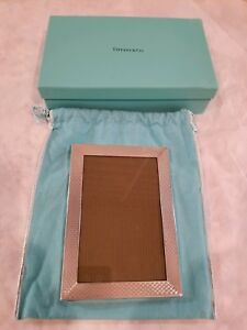 New Vintage Tiffany Co Sterling Silver Picture Frame 7x5