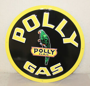 Large Vintage Style 24 Polly Gas Station Signs Man Cave Garage Decor
