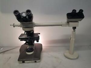 Nikon Labophot Ii Microscope W 5 Objectives And Extended Second Eyepiece