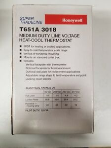 T651a3018 Line Voltage Thermostat