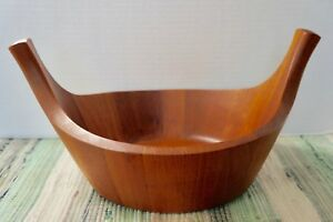 Mcm Dansk Staved Teak Viking Salad Serving Bowl Jens Quistgaard 1950s Denmark