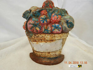 Vintage Cast Iron Door Stop Very Rusty Dusty Used Quite Distressed As Is