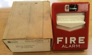 New Sealed Simplex Non coded Station 630 i52 Pull Fire Alarm