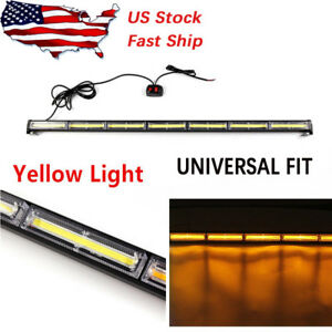 126w Amber Cob Led Traffic Advisor Emergency Warning Strobe Beacon Light Bar Tr