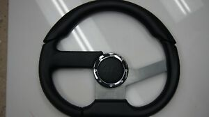 Apc Steering Wheel 5 Bolt Black Racing Performance Universal 3 Spoke Grip