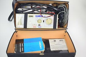 Hioki Micro Hicorder 8202 4 Rms Voltage Current Recorder W Clamp Paper