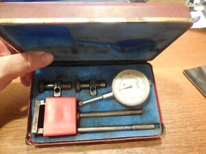 Central Tool Co Dial Indicator Set 001 With Magnetic Base And Case