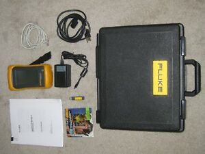 Fluke Onetouch Series Ii Network Assistant Case Cables Charger Used