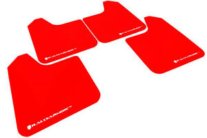 Rally Armor Universal No Mounting Hardware Ur Red Mud Flaps W White Logo