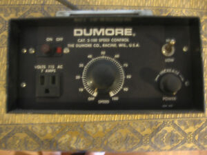 Dumore 2 100 Speed Control For Tool Post Grinder South Bend 9 10k Lathe