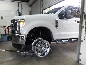 Fuel Forged 20x12 20x8 25 Ff19 Billet Polished Rims 2017 Ford F 350 Dually