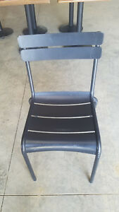Fermob 4101 Luxembourg Liquorice black Aluminum Stacking Chair Set Of 2
