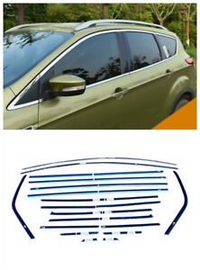 18pcs Stainless Steel Full Window Trim Sill For Ford Escape Kuga 2013 2018