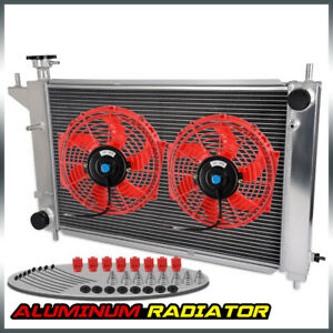 Performance Aluminum Radiator For 94 95 Ford Mustang Gt Gts Svt 3 8l 5 0 Red Fan