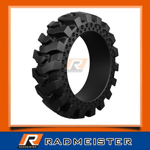 10x16 5 Set Of 4 Solid Flat Proof Skid Steer Tires W out Rims