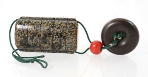 Japanese 19th C Lacquer Inr With Netsuke And Ojime Tea Dust Interior 11630