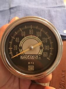 Stewart Warner Green Line Speedometer 160 Mph from 60 s Chrome Cup 550br p11