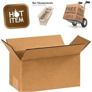 25x Corrugated Packing Storage Boxes Small Shipping Durable Moving Box 8x4x4