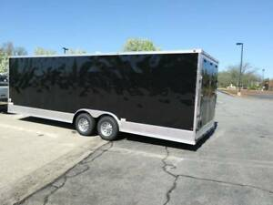 2019 8 5 X 24 Enclosed Cargo Snowmobile Toy Car Hauler Landscape Trailer W ramp