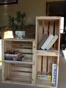 One Reclaimed Pine Wooden Single Crate Rustic Shelf Display Storage