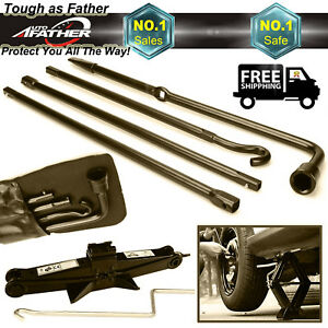 Spare Tire Tool For 2004 2014 F150 Lug Wrench Extension Iron 2 Ton Scissor Jack
