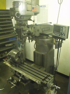 9 X 42 Bridgeport Mill With Readouts