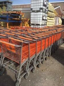 Shopping Carts Used Large Lot 100 Metal Baskets Warehouse Fixtures Trailer Deal