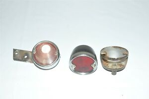 Red Plastic Lens Tail Stop Light Cover Vintage Old Guide R 58 Lot Ford 1930 S