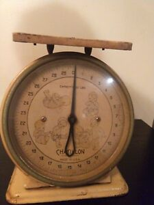 Vintage Chatillon Made In The Usa Antique Hospital Baby Scale