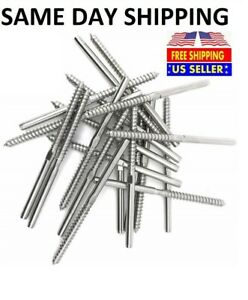 T316 Stainless Steel Swage Lag Screw Stud Thread Fitting 3 16 Cable Railing