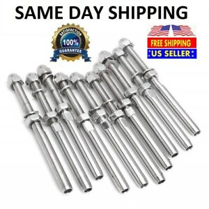 T316 Stainless Steel Swage Threaded Tensioner End Fittings 1 8 Cable Railing