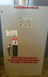 Asco Automatic Transfer Switch 480 Volt 60 Hz 3 Phase Series 300 104 Amp