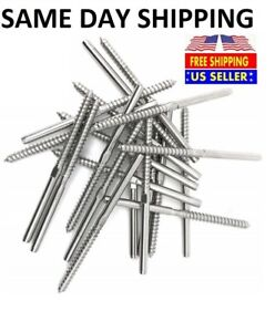 T316 Stainless Steel Swage Lag Screw Stud Thread Fitting 1 8 Cable Railing