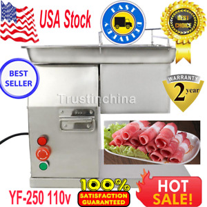 110v Meat Cutting Machine Meat Cutter Slicer 250kg Output With One Set Blade