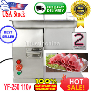 250kg Output Commercial Meat Slicer Cutter Meat Cutting Machine 1 Set Of Blade