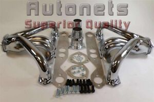 Tight Fit Chromed Street Hot Rod Hugger Headers Small Block Chevy Sbc 265 350