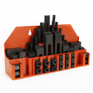 58pcs M12 T slot Milling Step Block Clamping Kit For Metal Milling Machine