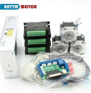 3 Axis Nema23 165oz in 56mm Cnc Stepper Motor tb6600 Driver Cnc Controller Kit