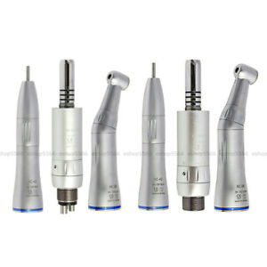 W h Dental Low Speed Handpiece Kit Inner Straight Contra Angle Air Motor 2 4hole