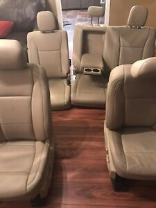2017 Ford F250 Super Duty Lariat Power Front And Rear Leather Seats Tan