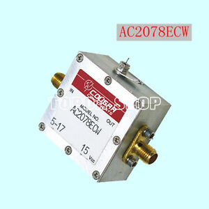 1pc Cougar Ac2078ecw 10mhz 1 8ghz 10db 15v Sma Rf Coaxial Amplifier zh