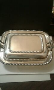 Vintage Cole Silver Co Covered Serving Dish