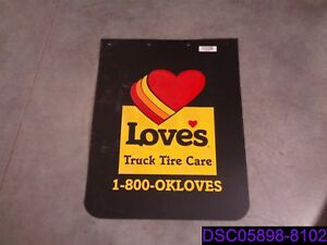 Qty 9 Love S Truck Stop Truck Tire Care Semi Mud Flap 24 X 30