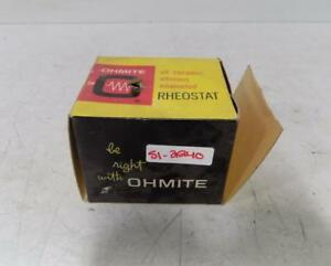 Ohmite 100 Watt Model K Series A 25 Ohms Rheostat 0448 Nib