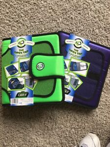 New 2 Case it Open Tab 3ring 2inch Binder With Tab File Lime purple S 816