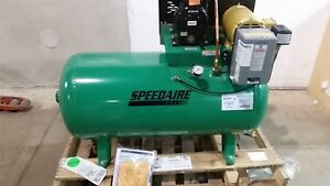 Speedaire 5z699 1 5 Hp 860 Rpm 208 240vac 480vac Stationary Air Compressor