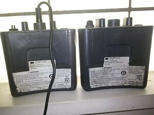 3m Gvp 111 Battery Pack For Gvp Belt mounted Papr Lot Of 2 Good Used Batteries
