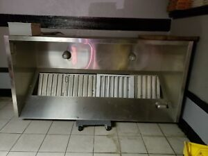 7 6 Econovent Exhaust Hood Vent Commercial Restaurant Stainless Steel Used