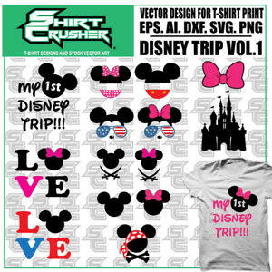 Disney Vector Clip Art T shirt Design Screen Print Vinyl Cutter Eps Png Svg
