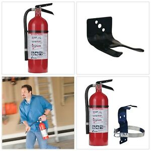 Fire Extinguisher Bundle W 5 Lb Mounting Bracket 2a 10 b c Rated Home Auto
